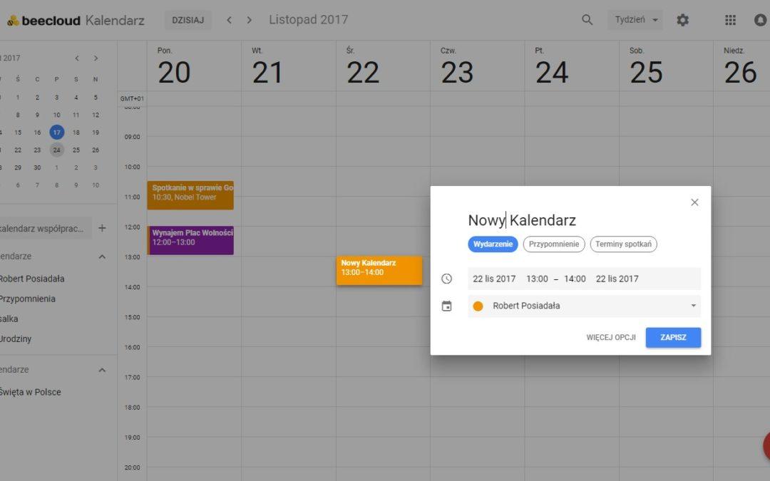 Nowy kalendarz Google G Suite