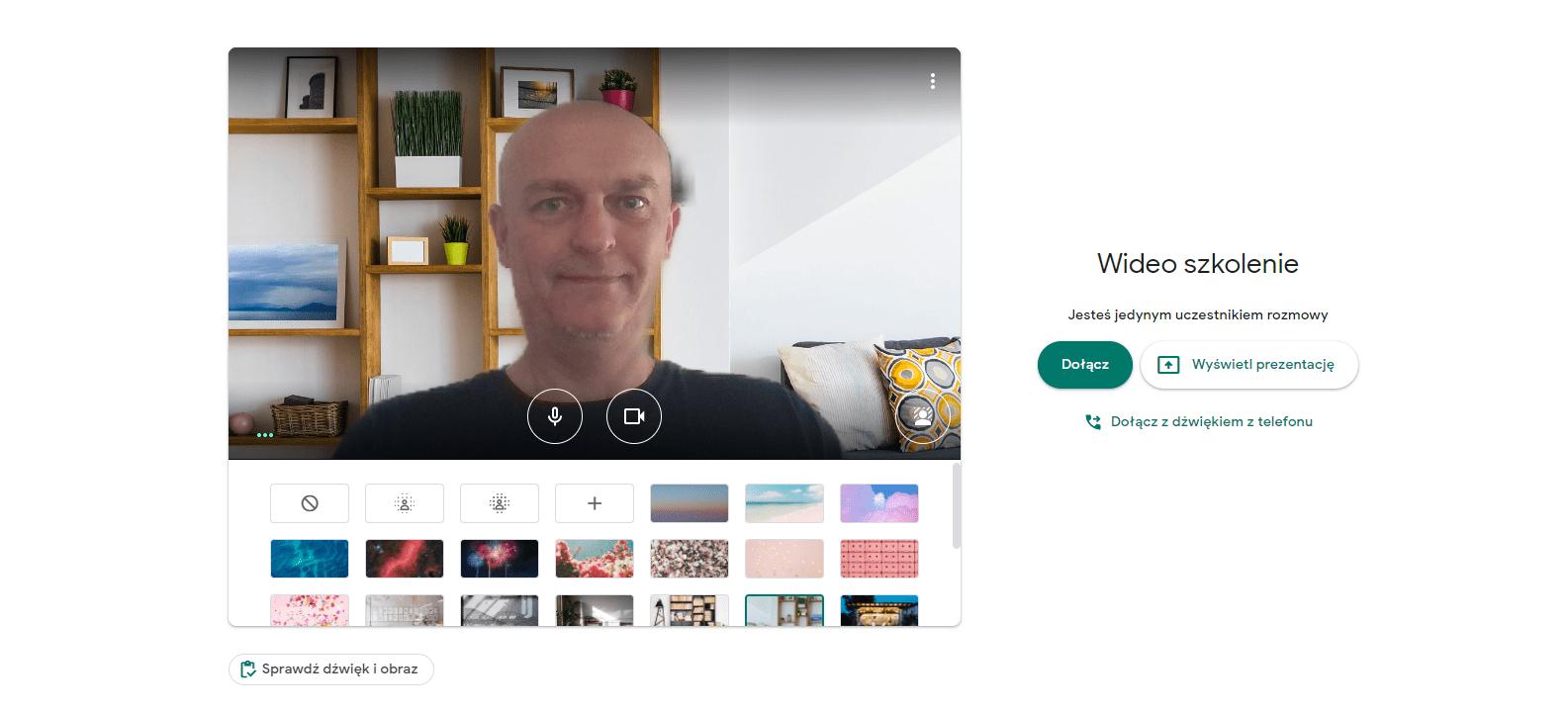 Google Meet - dołączanie do spotkania